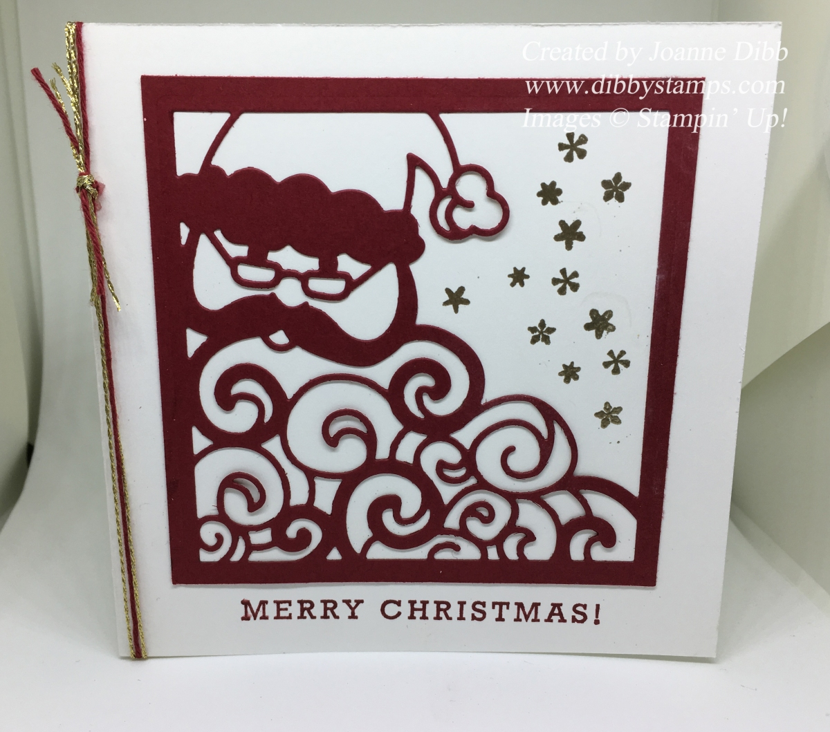 Cherry Cobbler Detailed Santa Card