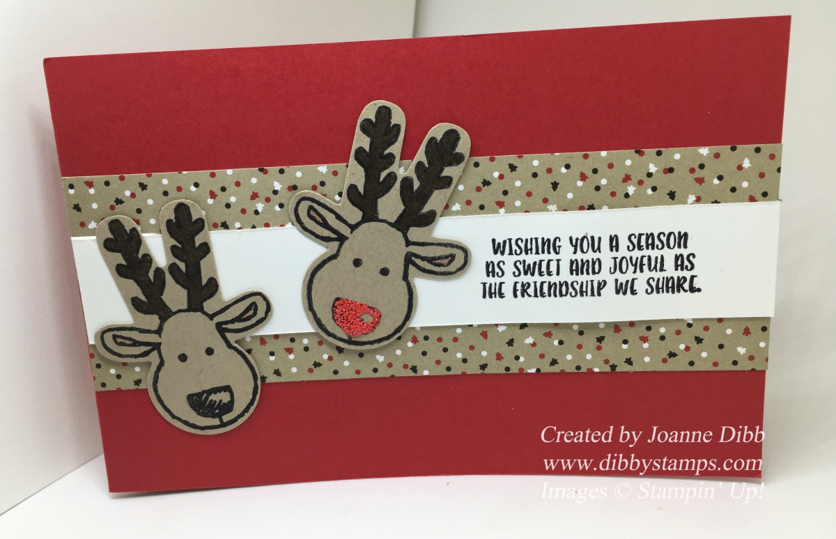 Sparkly Nosed Rudolph Card