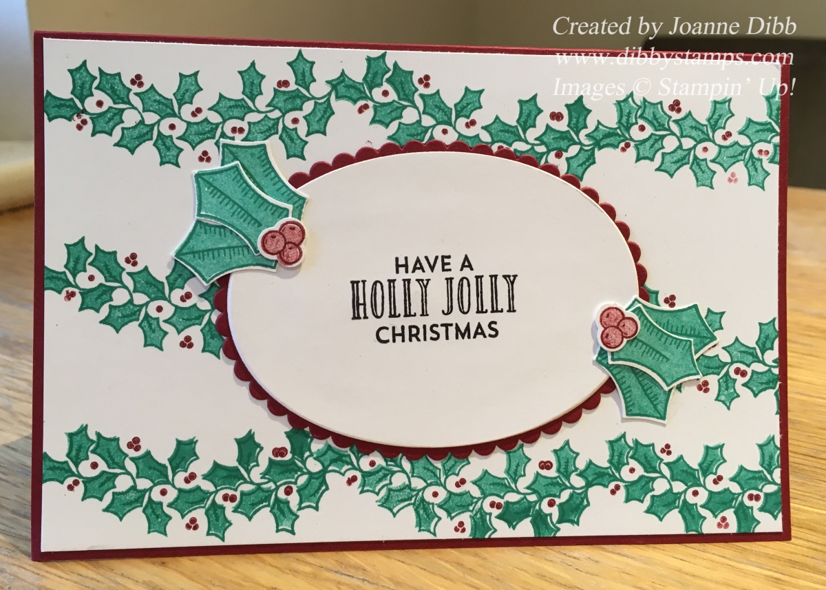 Holly Berry BackgroundCard