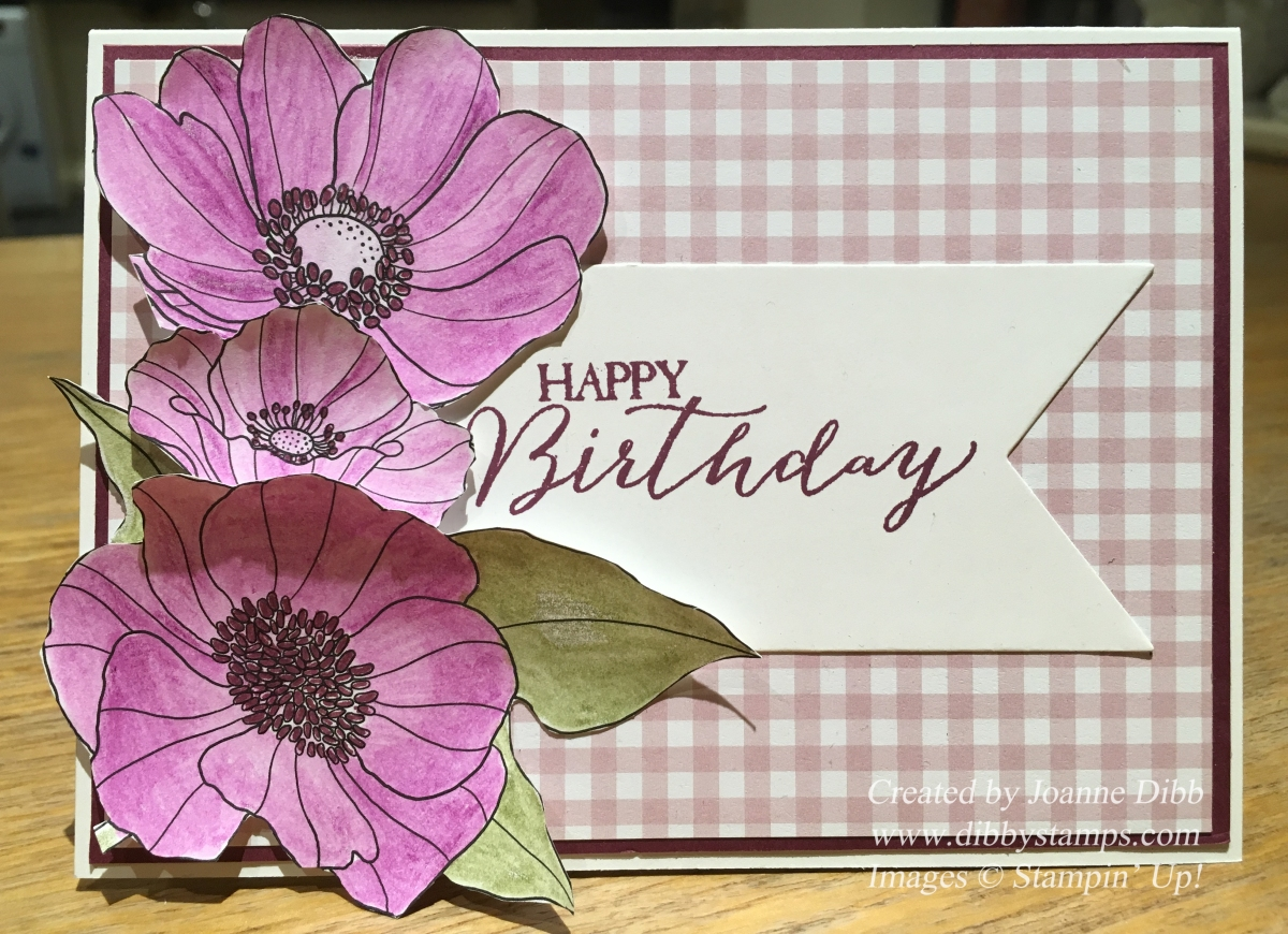 Floral Friday – Inside the Lines Razzleberry Birthday Card