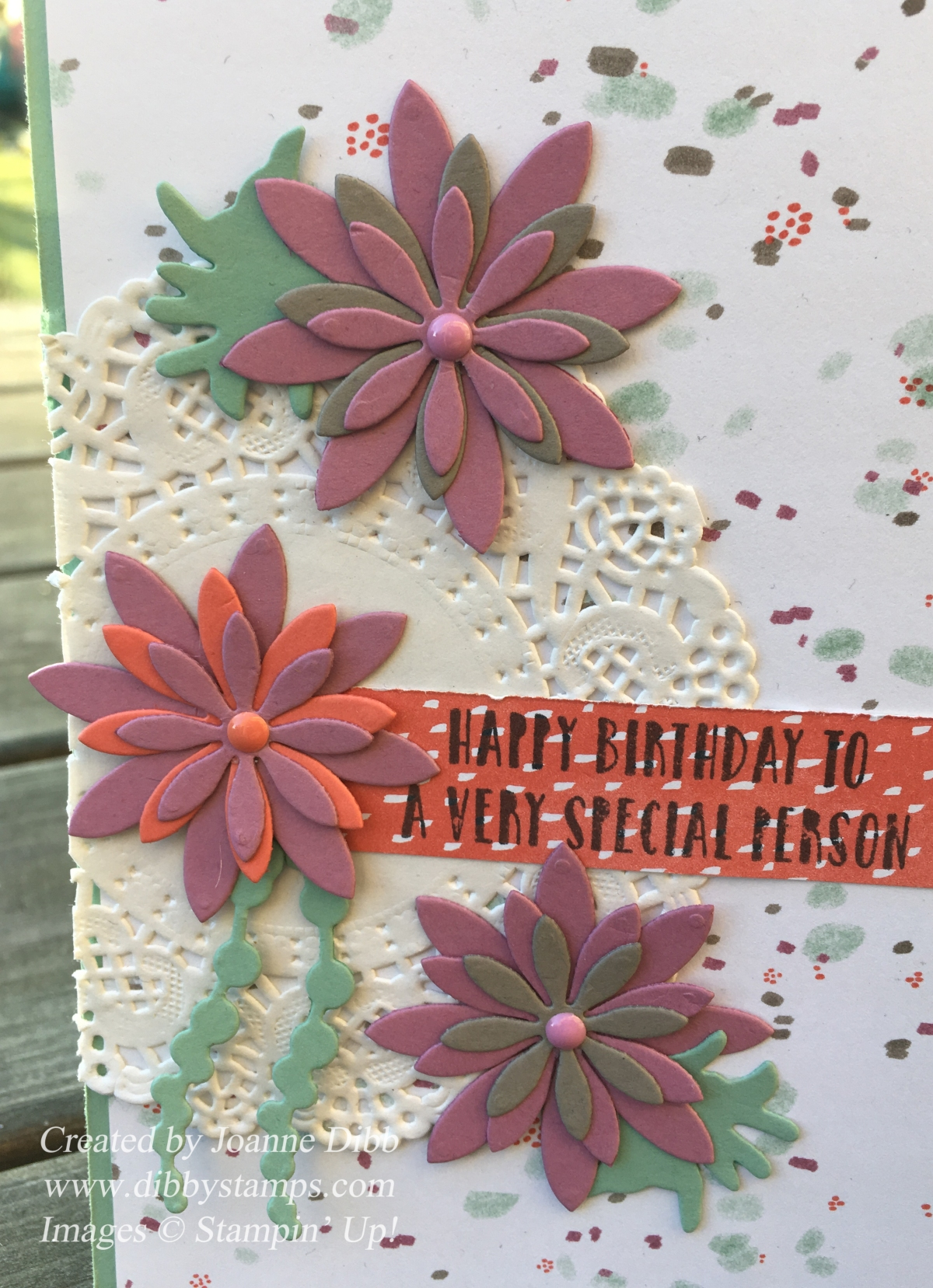 Floral Friday – Oh So Succulent Birthday Card