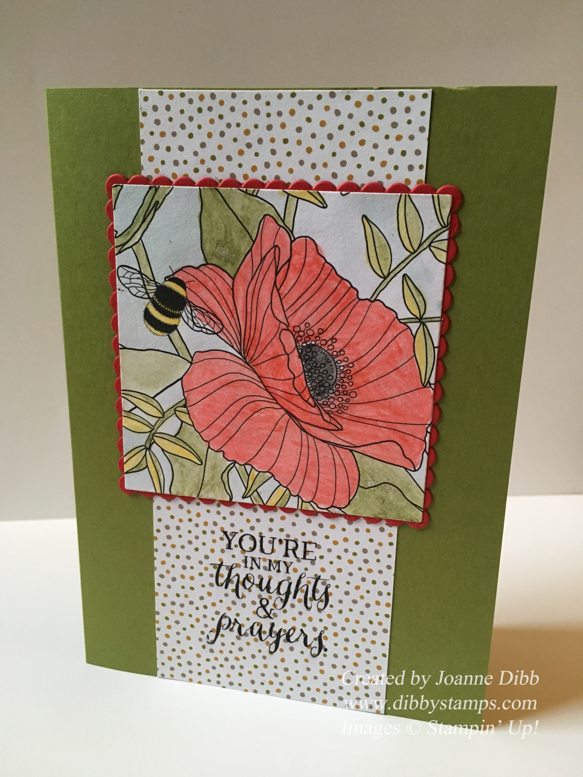 Floral Friday – Insides the Lines- Thoughtful Poppy Card