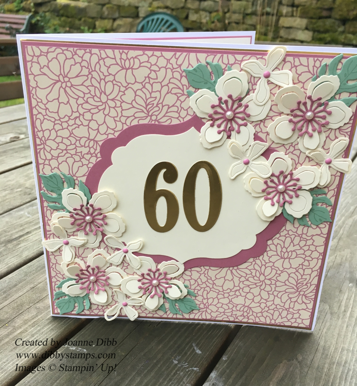 Mum's 60th Birthday Card featuring Botanical Blooms