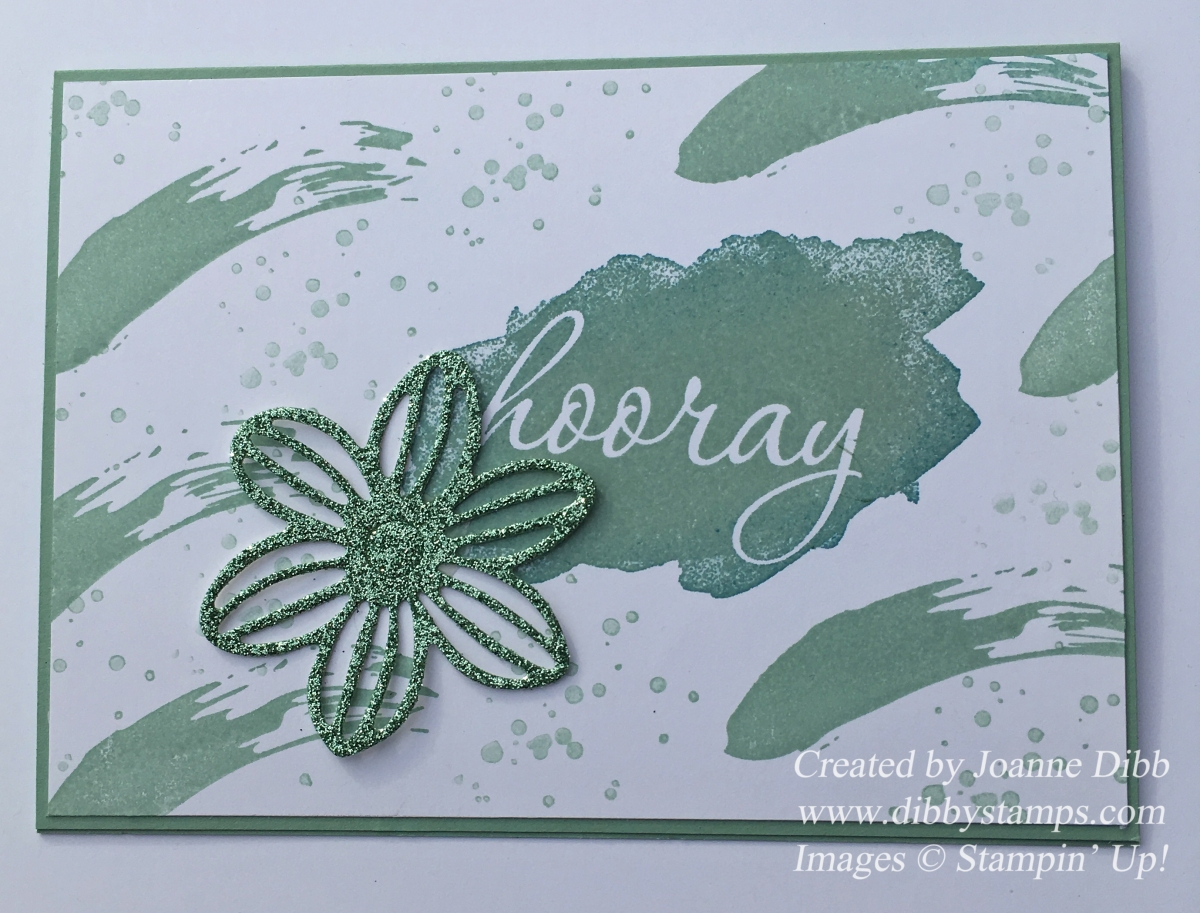 Hooray Card for my 1st Stampin' Up! Anniversary