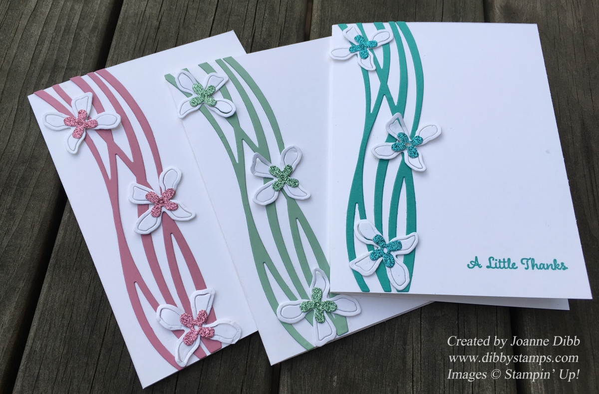 Floral Friday: Glimmer Flower Thank You Cards