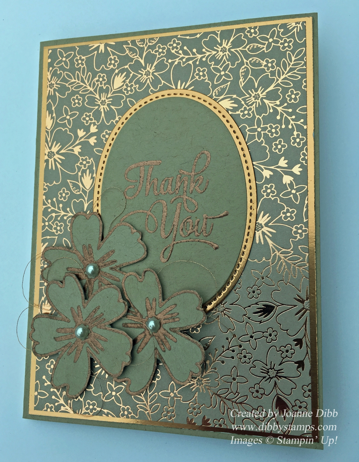 Floral Friday: Copper Crazy Card