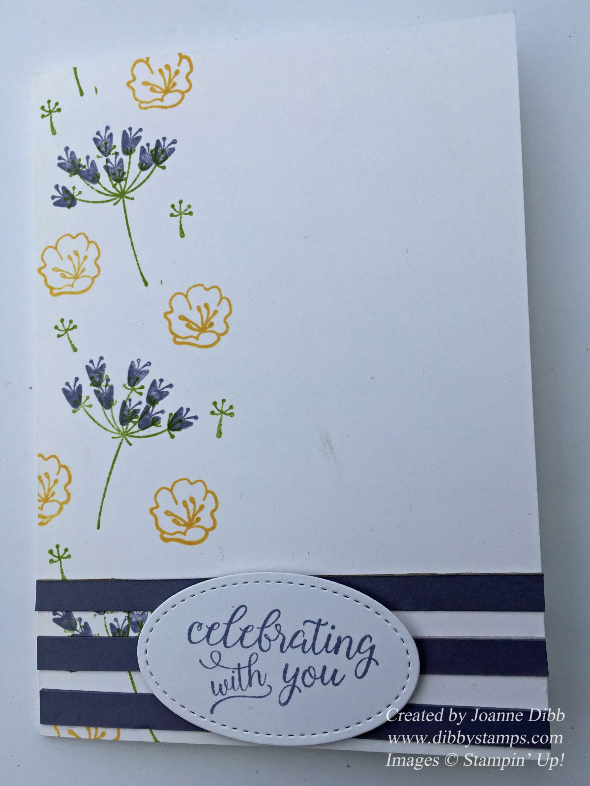 Spring Coloured card with Falling for You