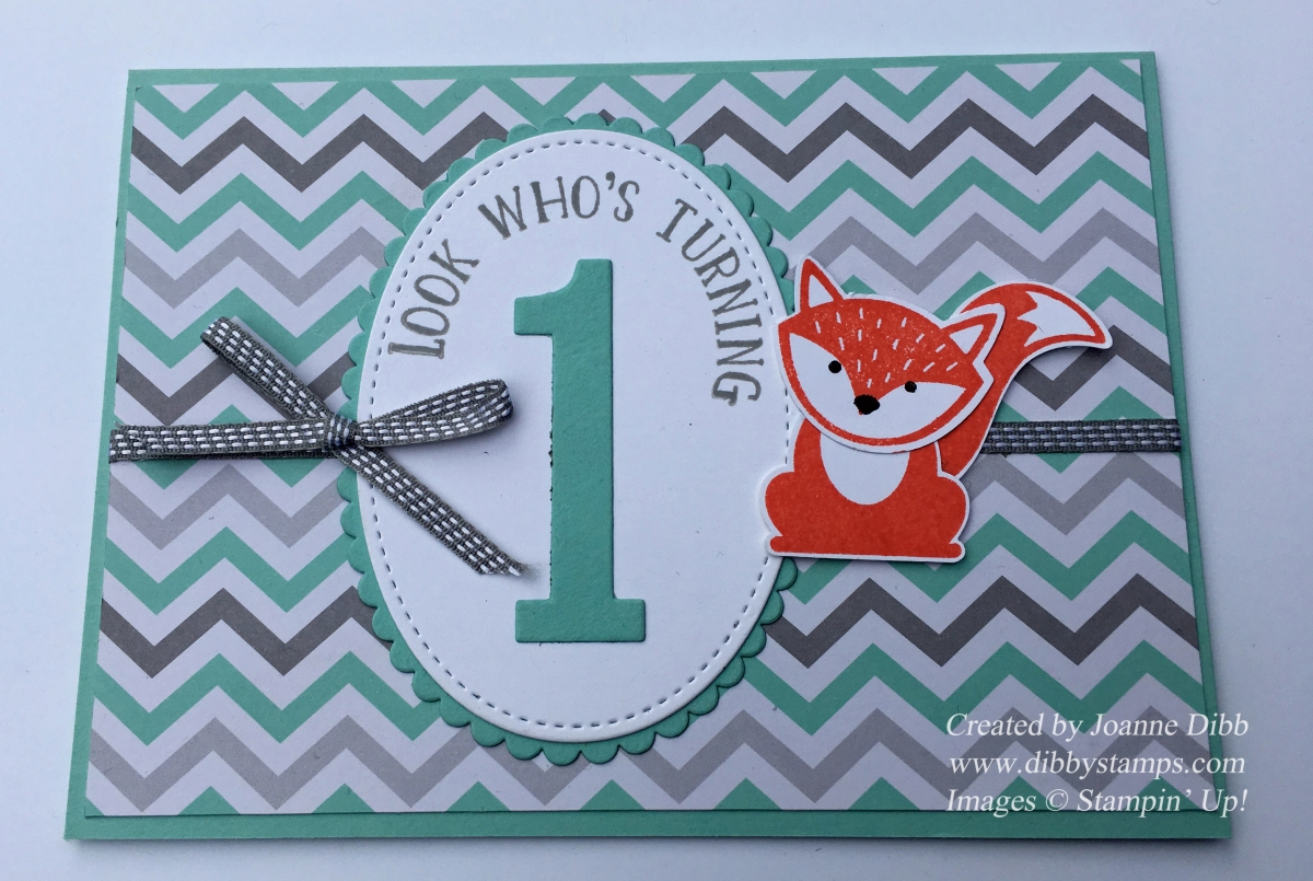 First Birthday Card with A Little Foxy Suite
