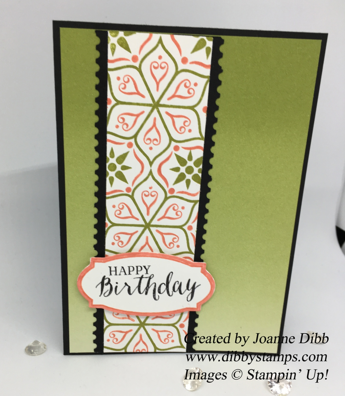 Masculine Birthday Card with Eastern Beauty stamp set