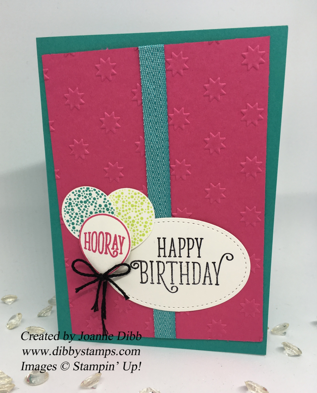 Oh My Stars Embossing Folder BirthdayCard