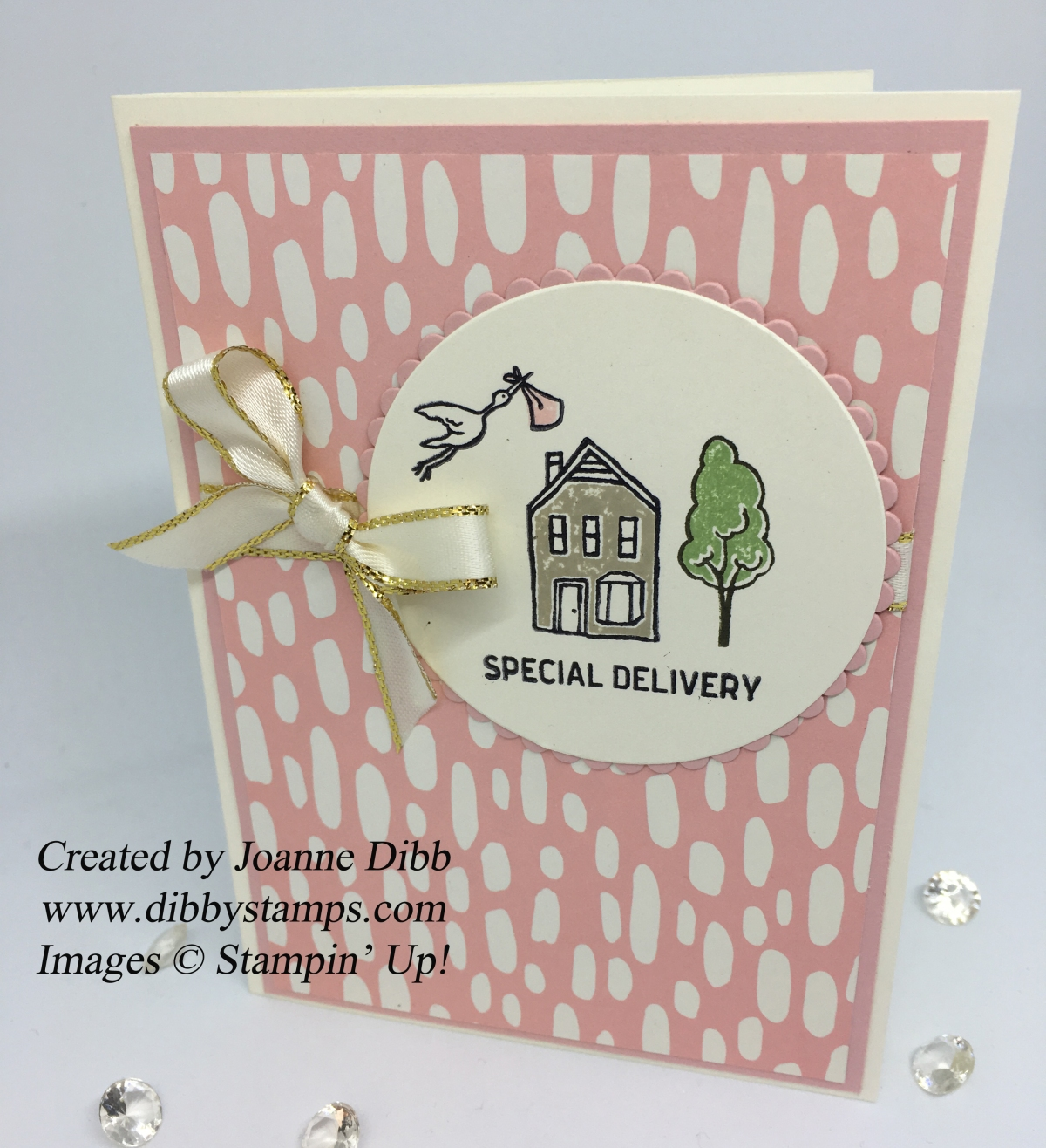 Baby Girl card with In the City from Stampin' Up!