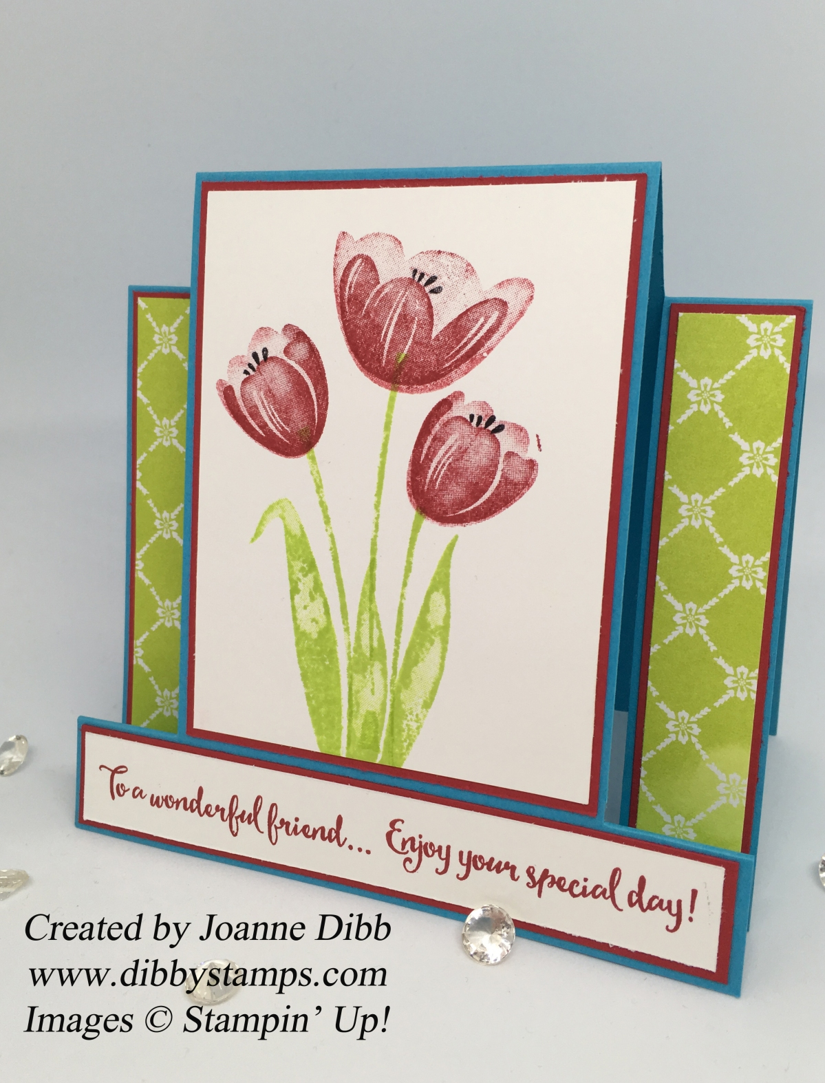Floral Friday: Tranquil Tulips Centre Step Card