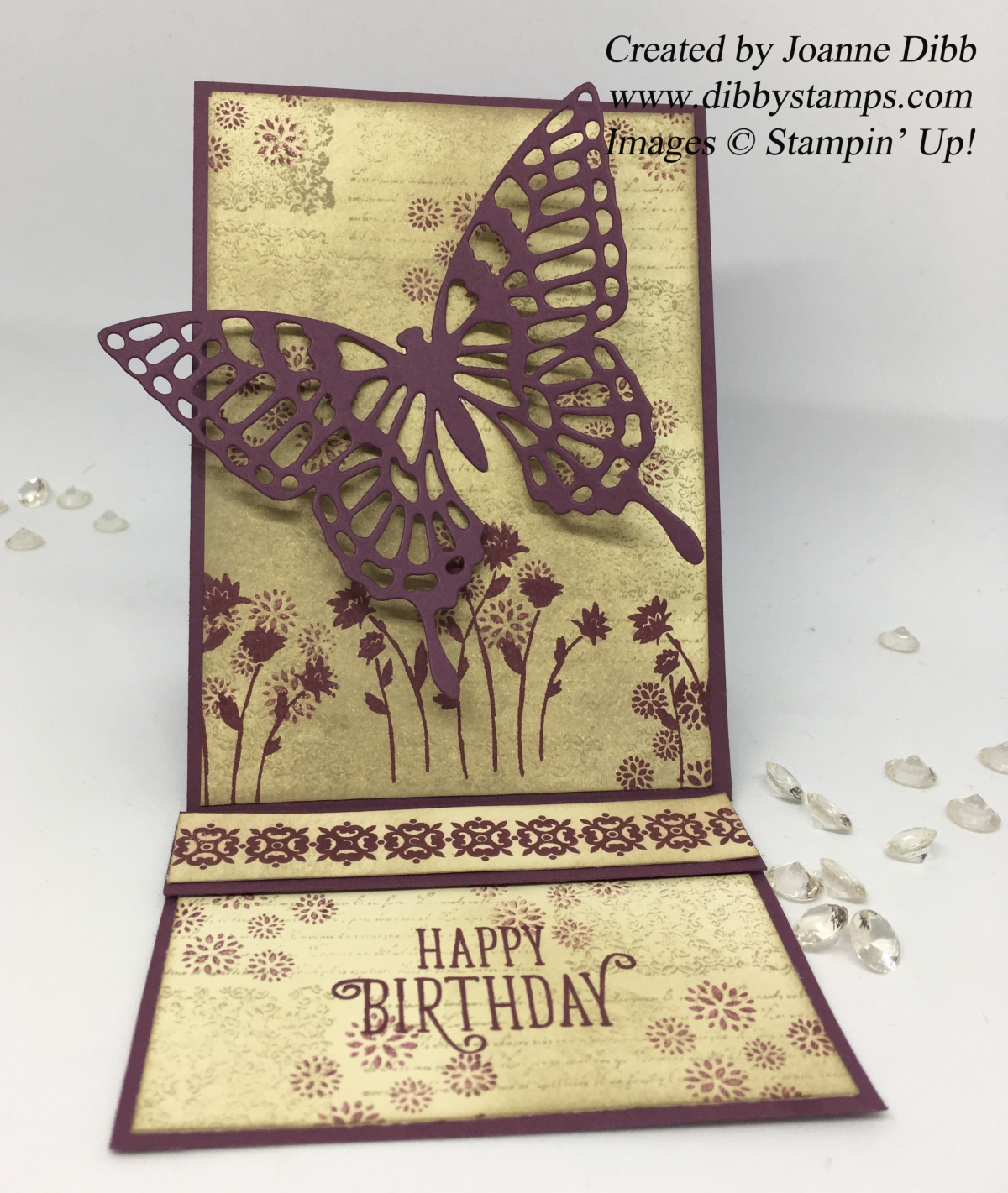 Vintage Butterfly Easel Card