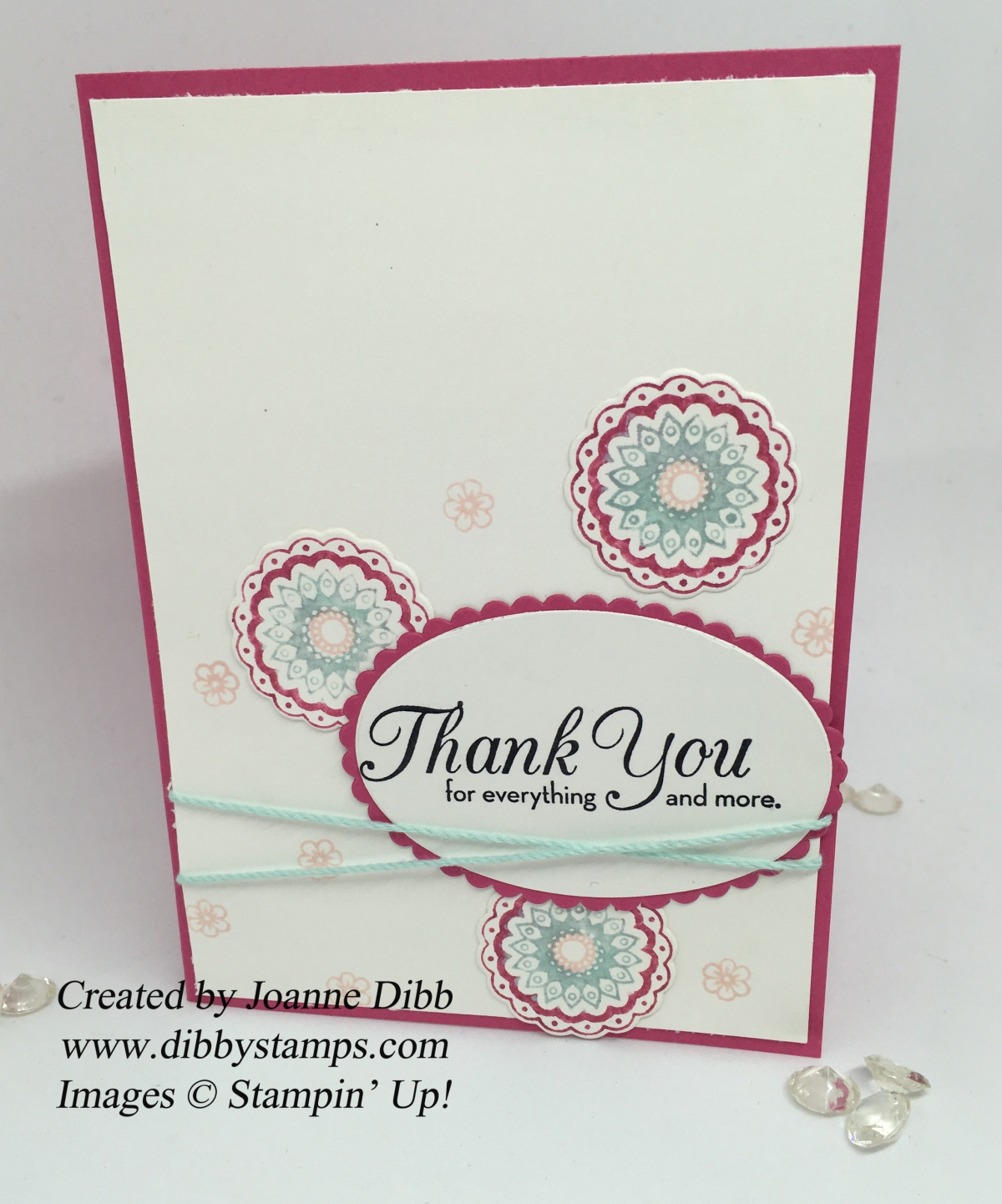 Pink Paisley Thank You Card