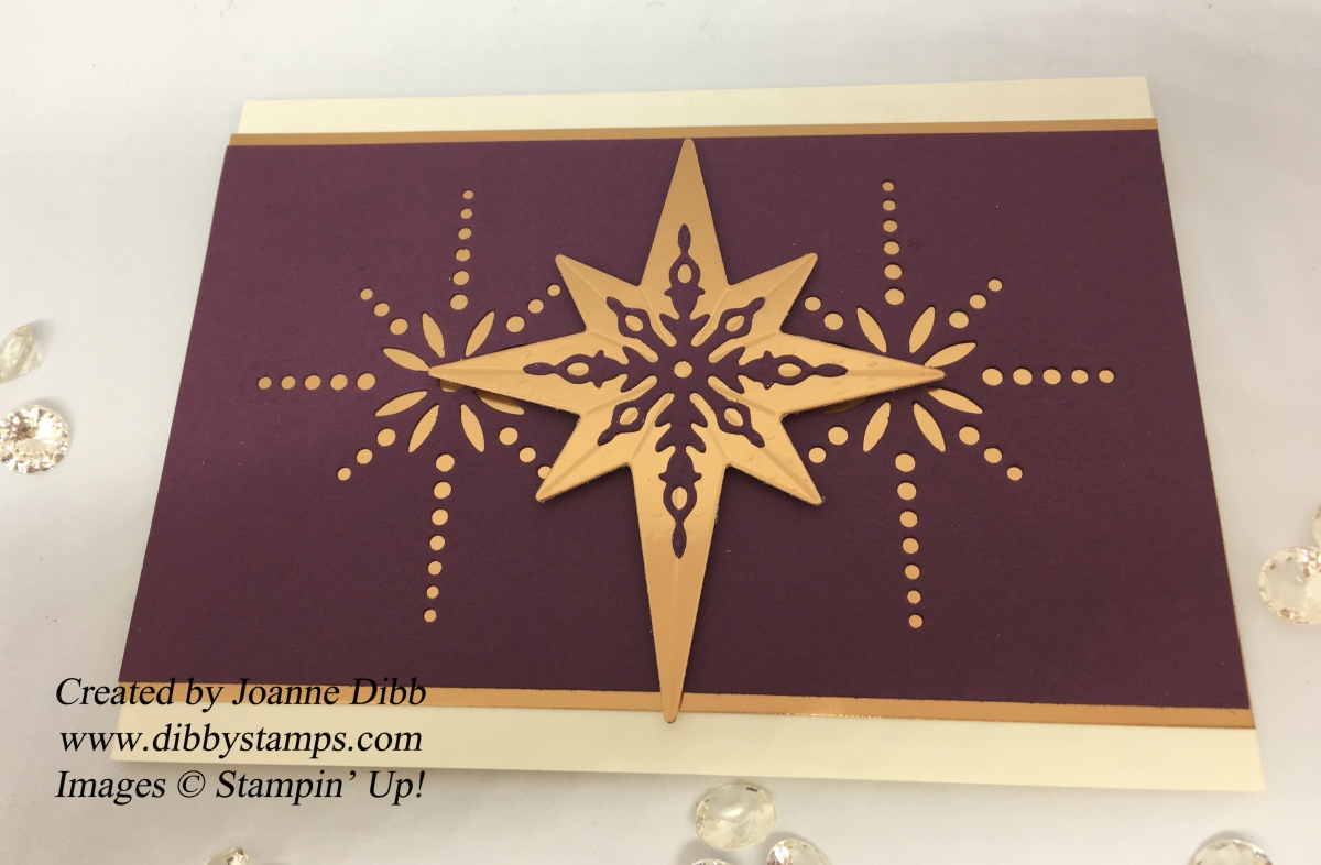 Copper & Fresh Fig Star Card