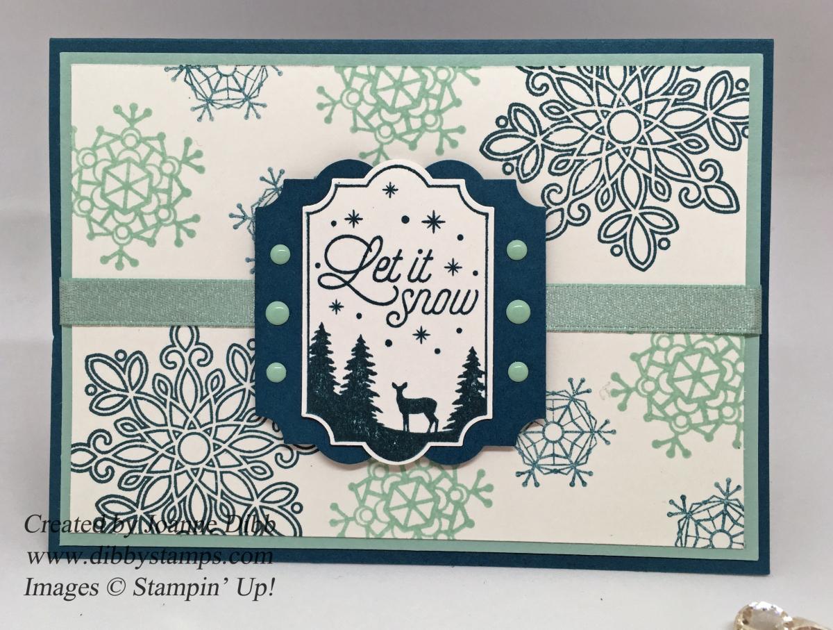 Let It Snow SnowflakeCard