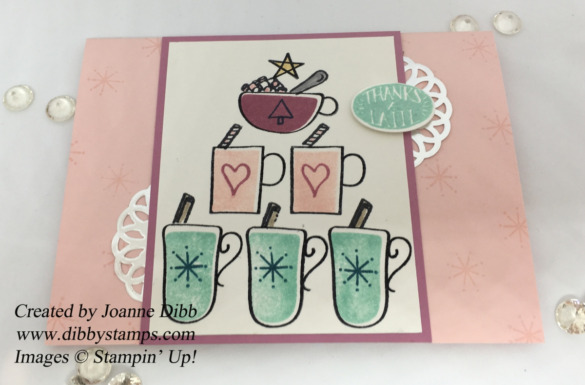 "Pastel ""Thanks a Latte"" Card"