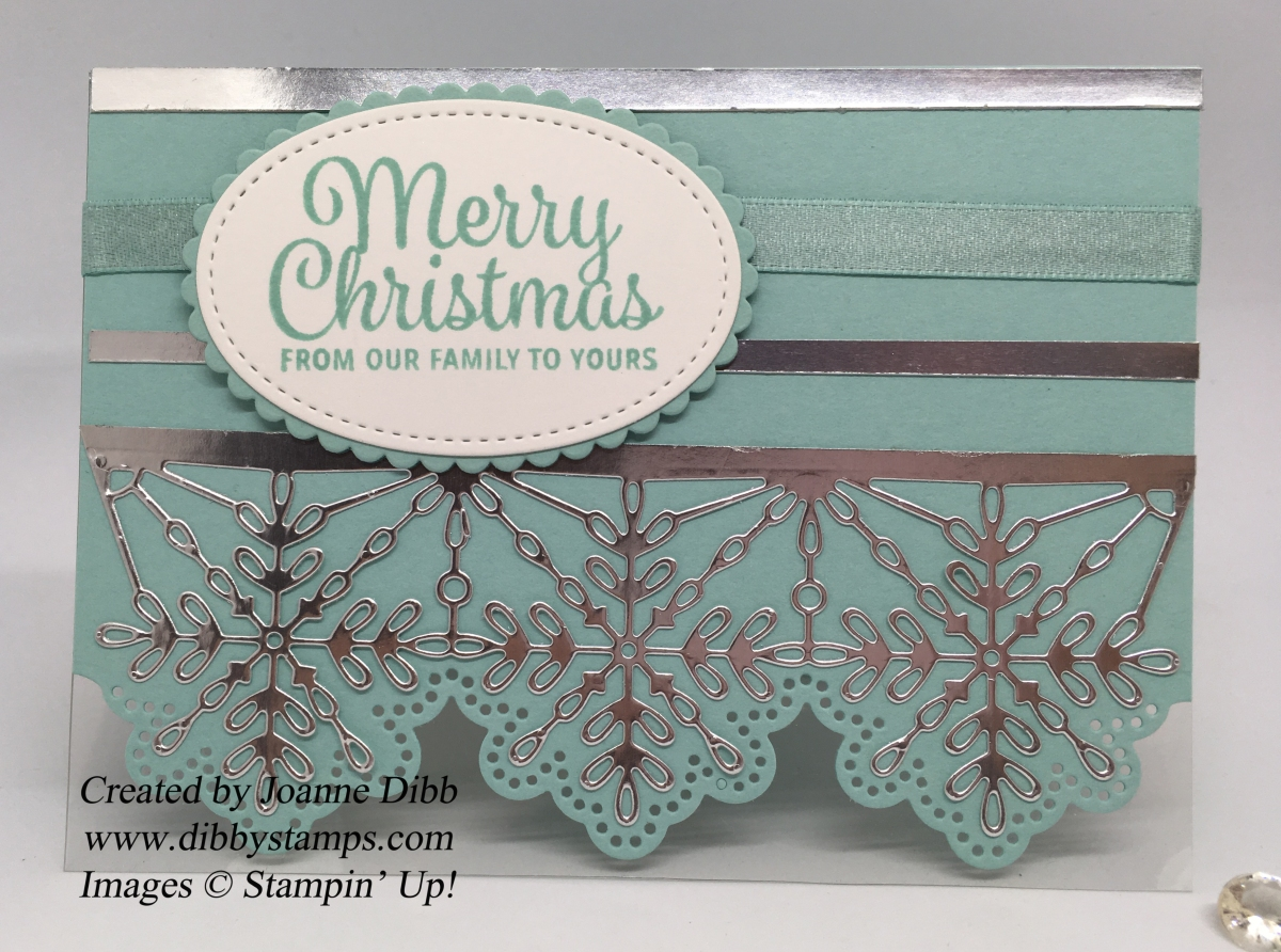 Swirly Snowflake Edged Card