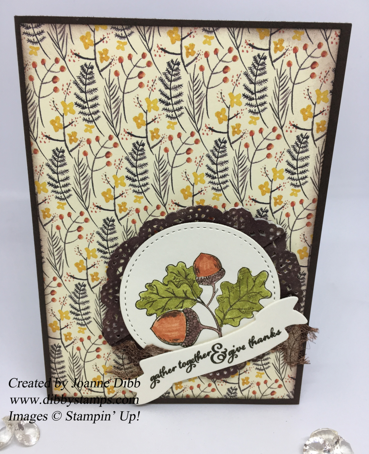 Thankful Acorn Card