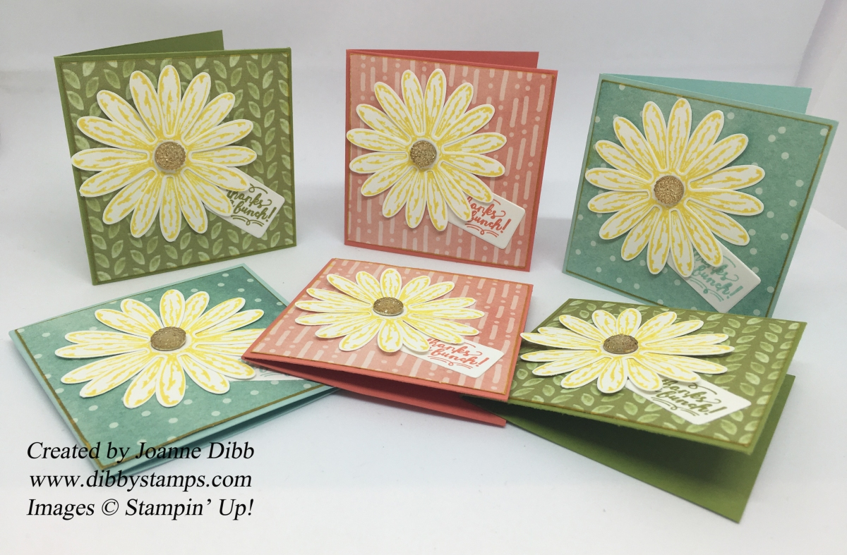 Daisy Delight 3 x 3 Notecard Set