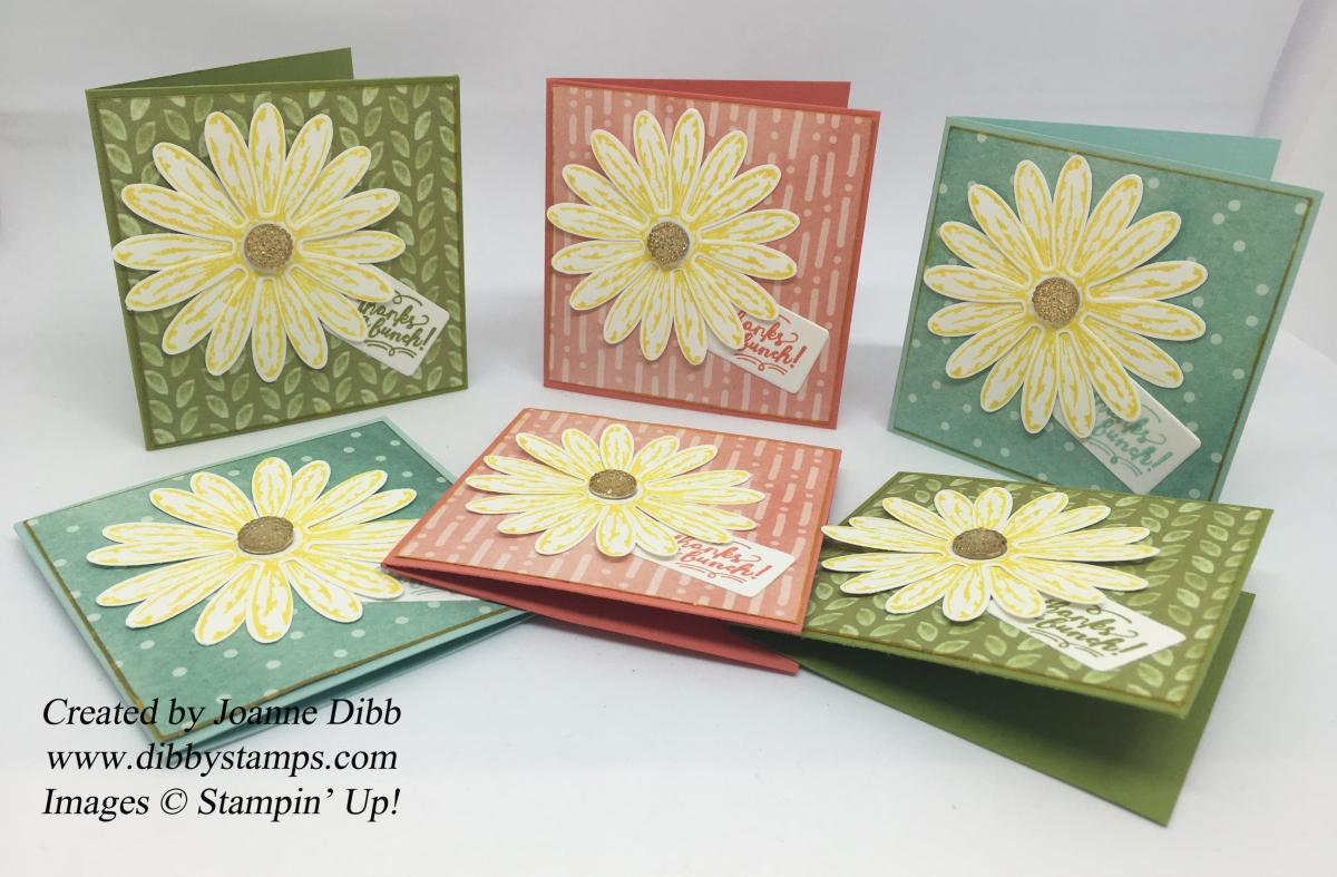 Daisy Delight 3 x 3 NotecardSet