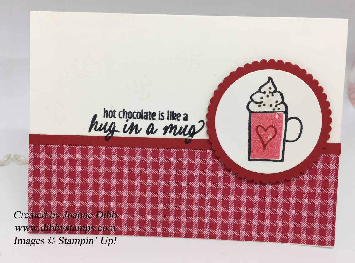 Hug in a Mug Hot Chocolate Card