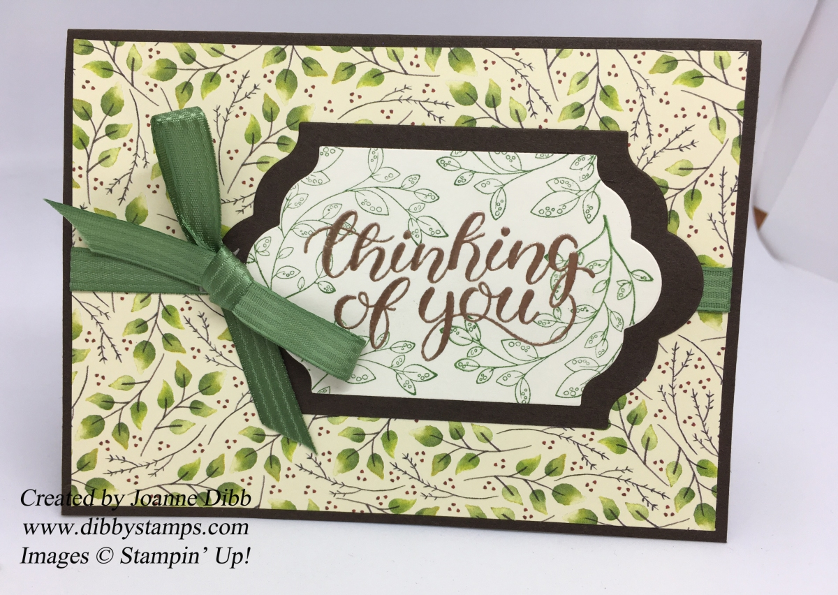 Leafy Green Thinking of You Card