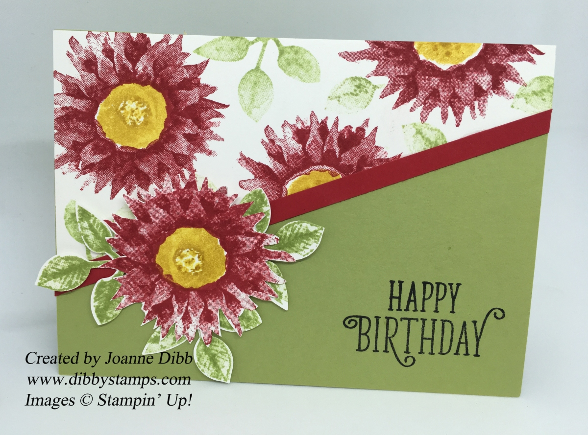 Poinsettia Style Card with Painted Harvest