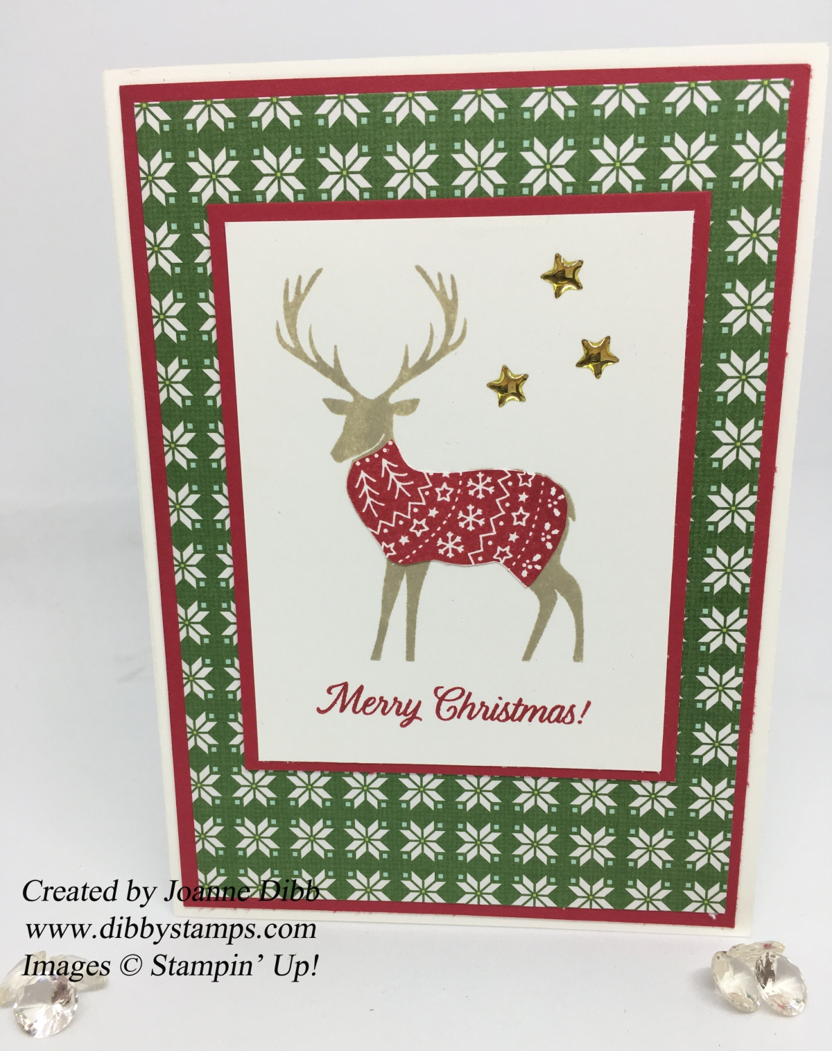Reindeer in a Real Red Jacket Card