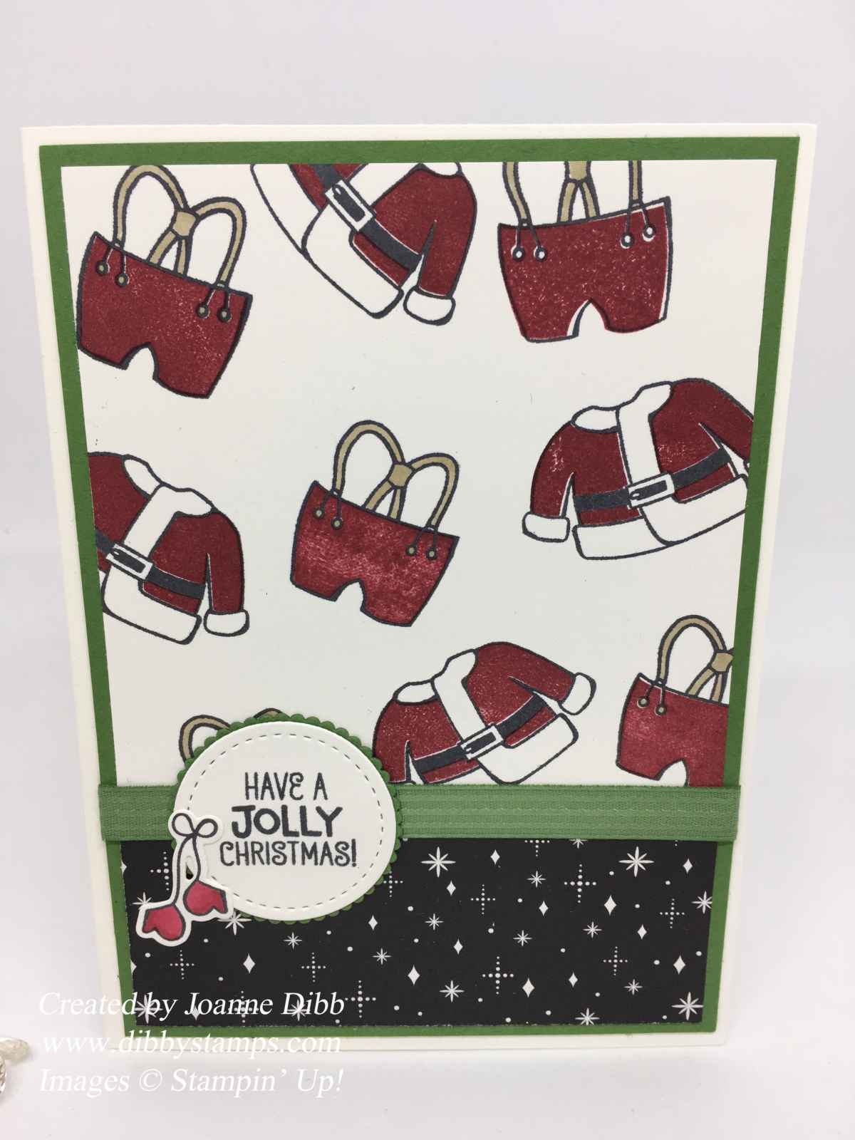 Jolly Santa Suit Christmas Card
