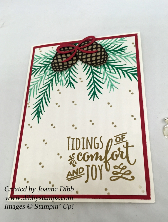 stampin up christmas pines tidings of joy flat