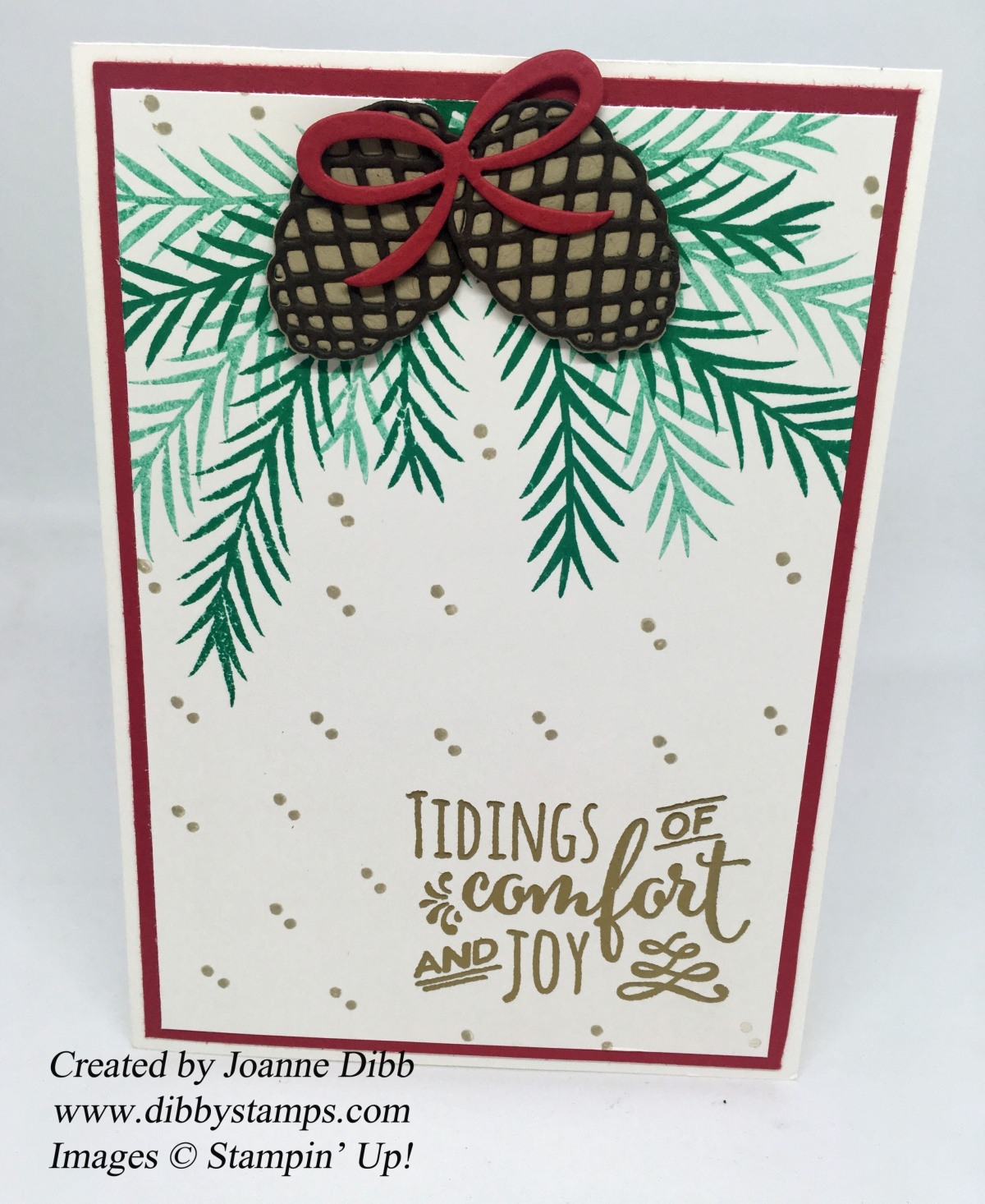 Tidings of Joy card with the Christmas Pines Stamp Set