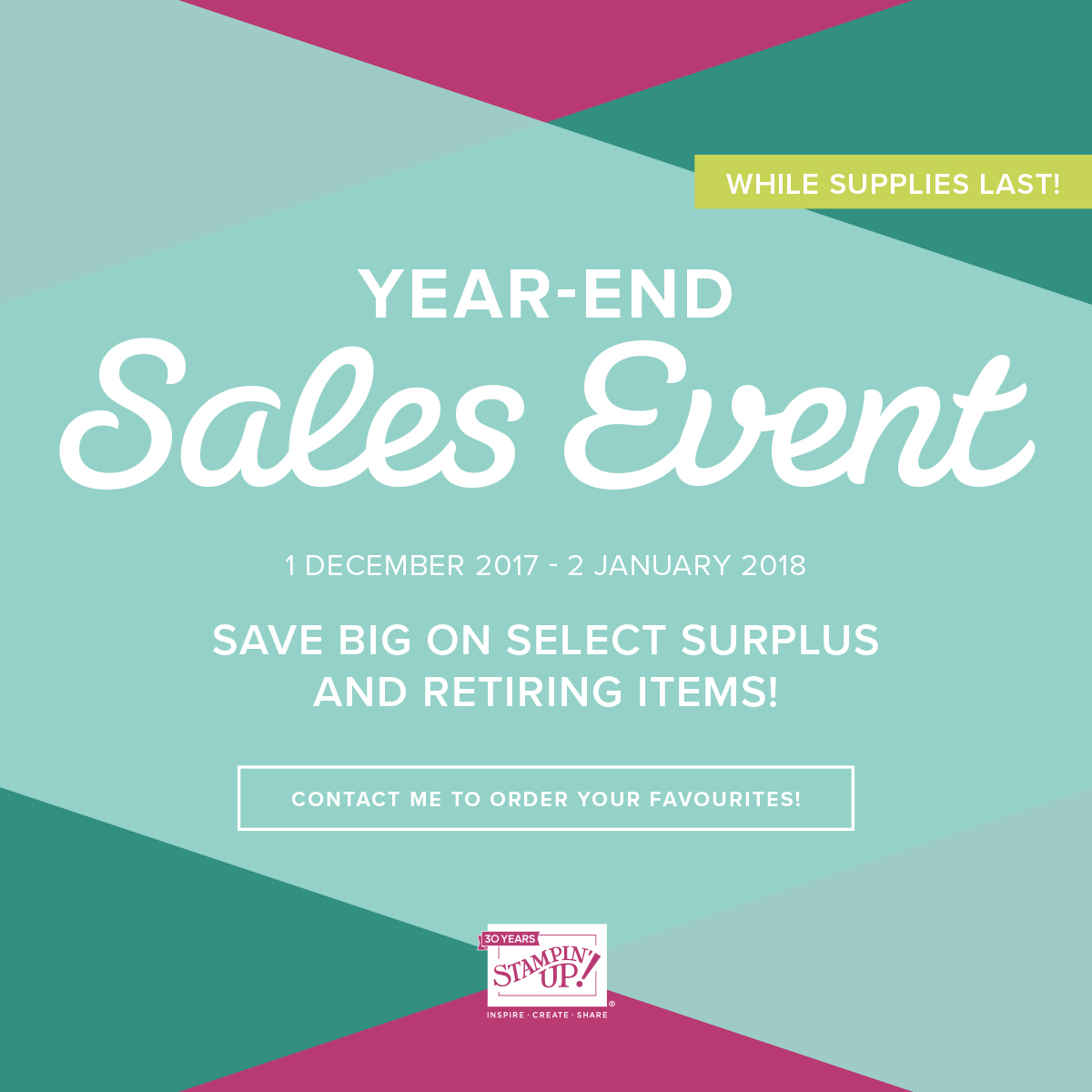 Stampin' Up! Year End Retirement List and Sale