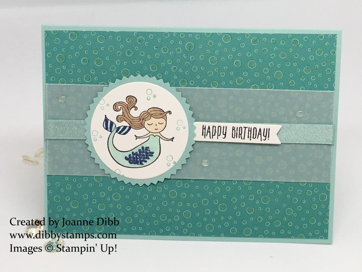 Magical Day Mermaid Birthday Card