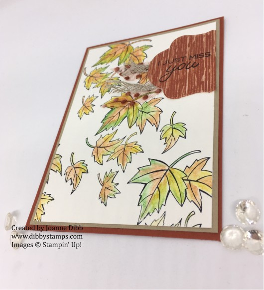 autumn leaves blended seasons card flat
