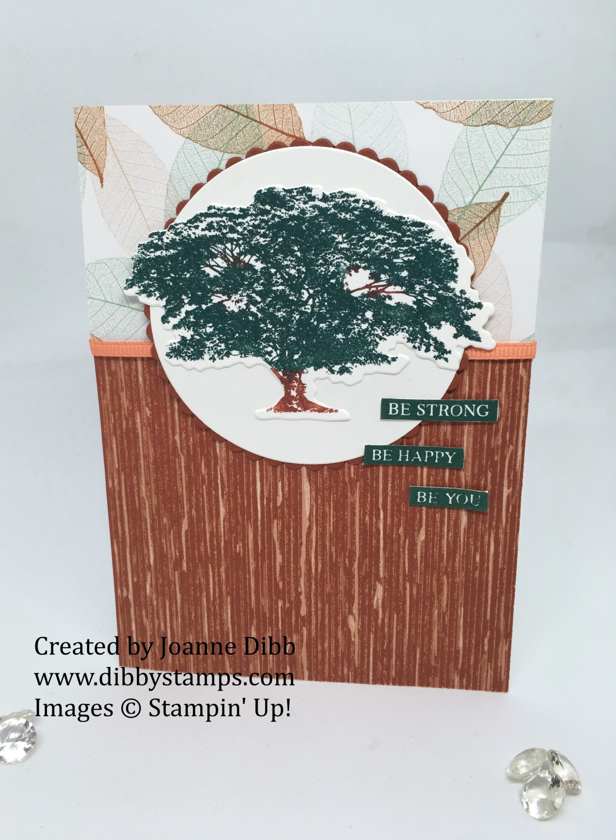 """Be Strong"" Oak Tree Card featuring  Rooted in Nature Bundle"