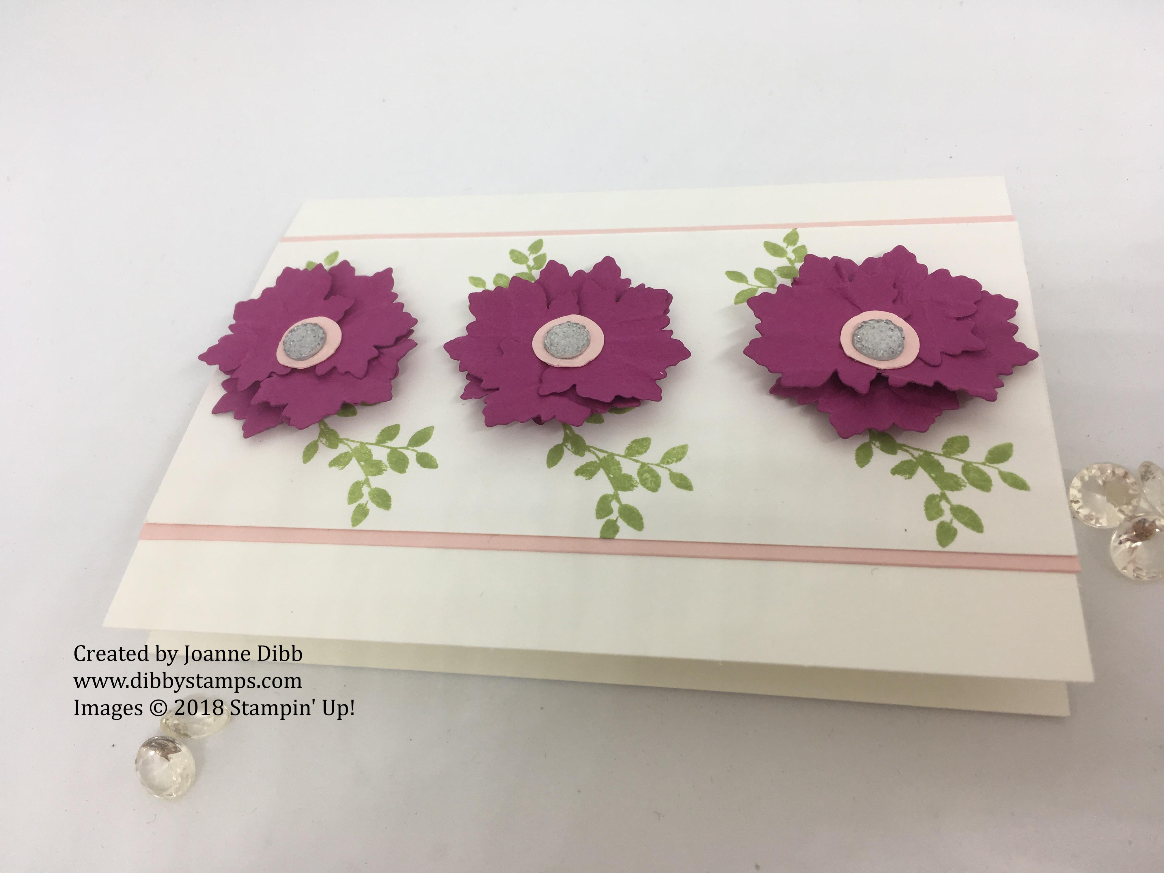 berry burst flower card flat