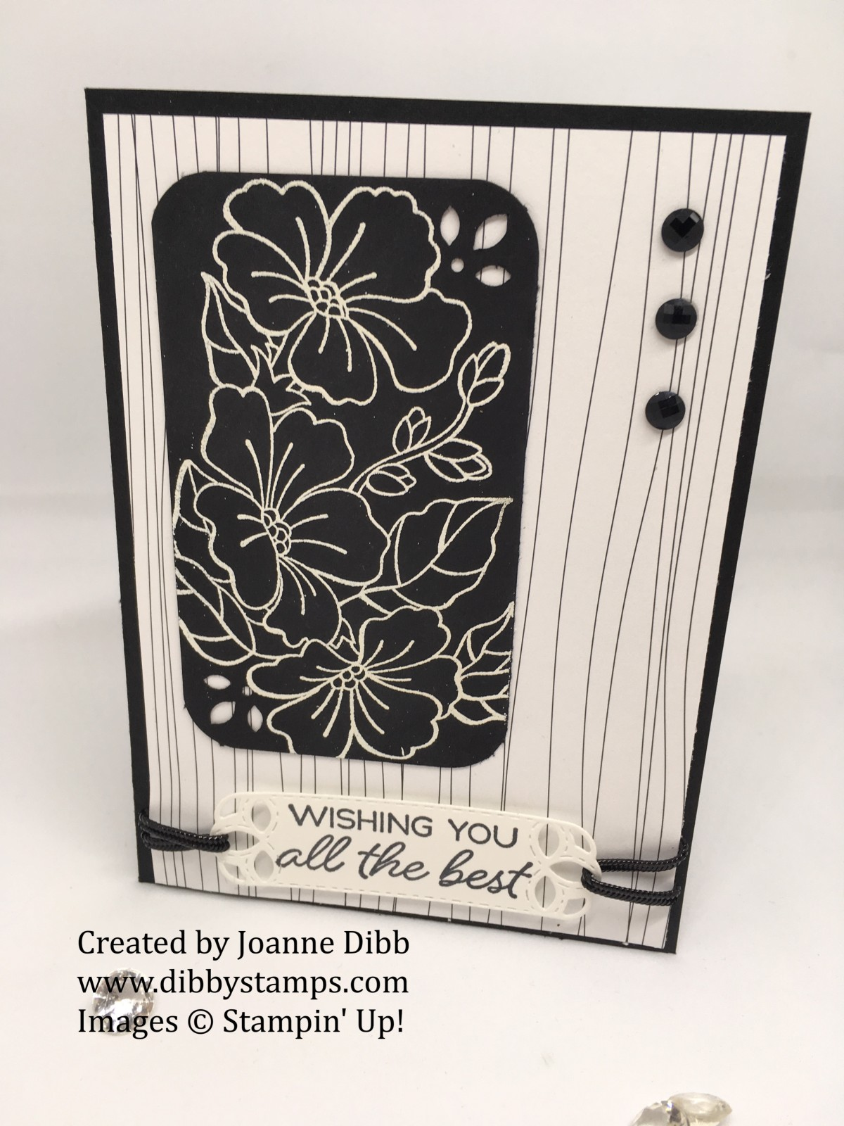 Monochromatic Floral card with BlendedSeasons