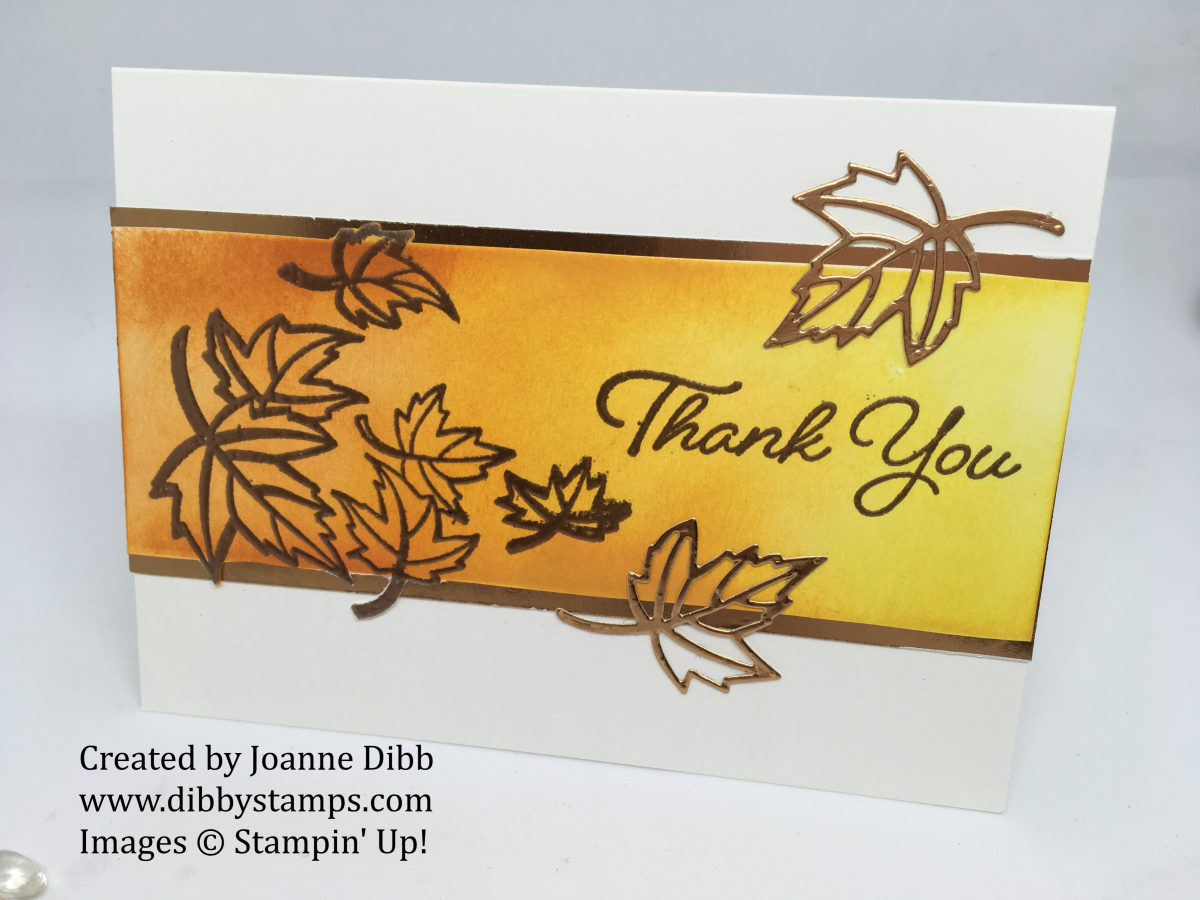 Copper Leaves Thank You Card with Blended Seasons Bundle