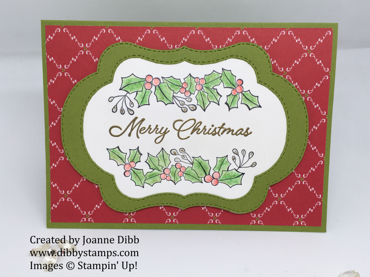 Water-Coloured Holly With the Blended SeasonsBundle