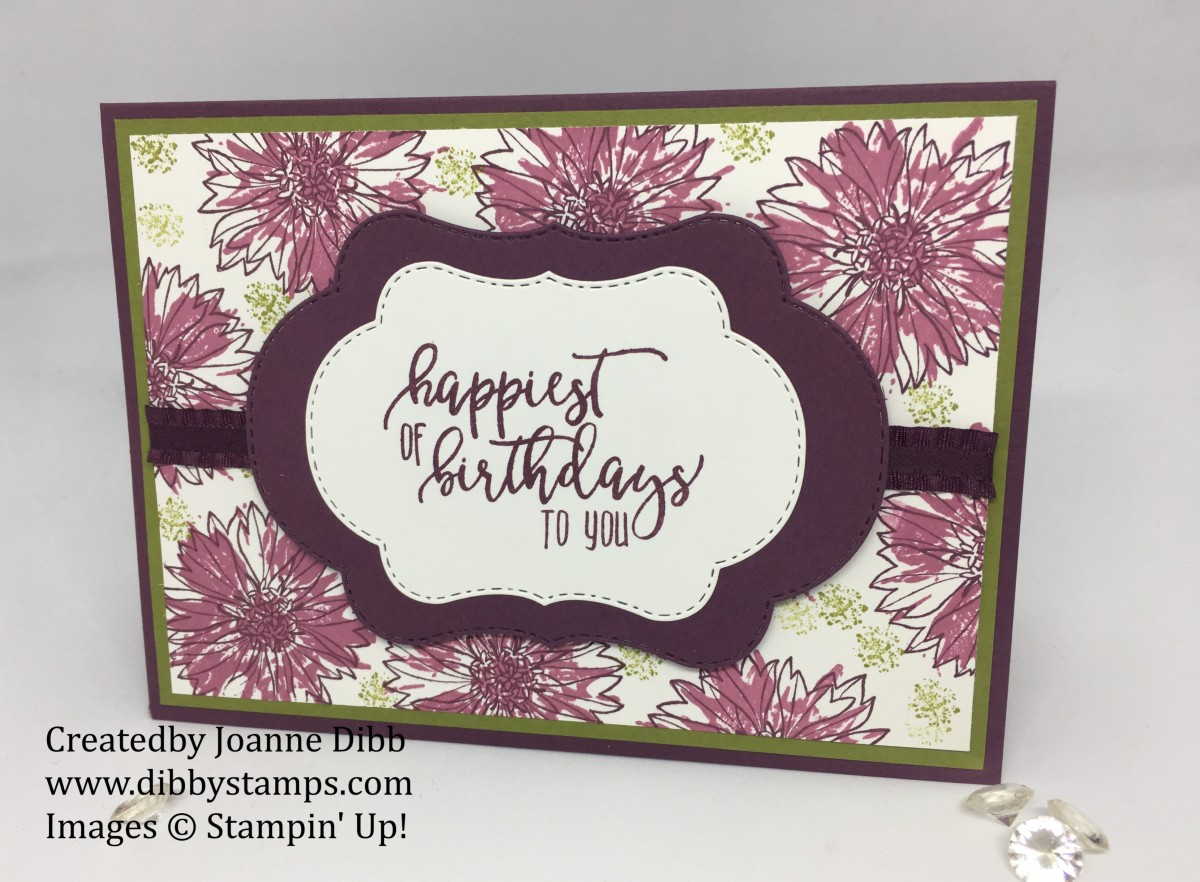 Floral Friday: Floral Background Card with Touches of Texture