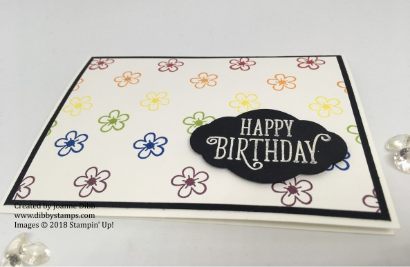 Happy Birthday Gorgeous Rainbow Flower Card Flat