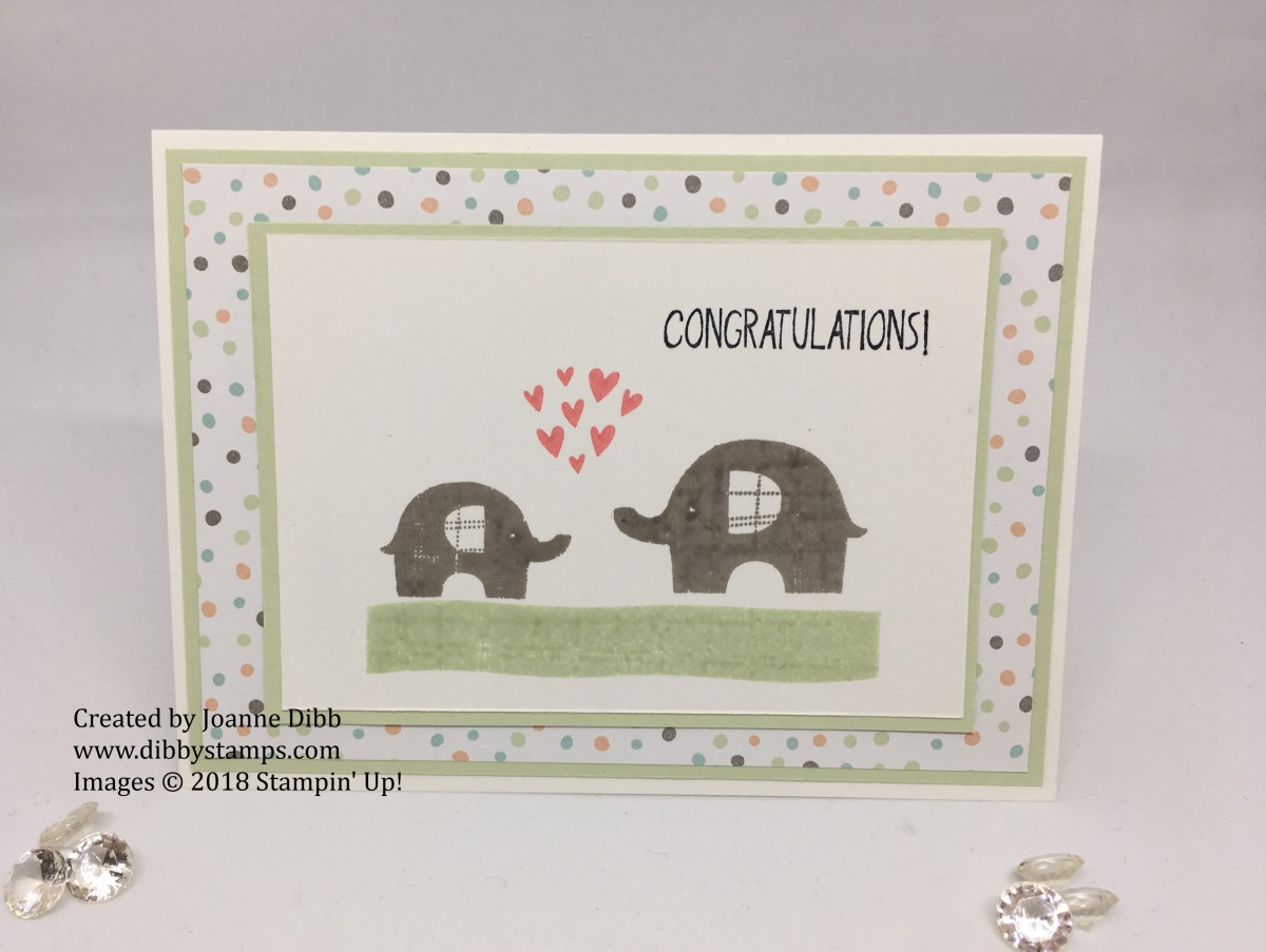 Congratulations Card with Little Elephant