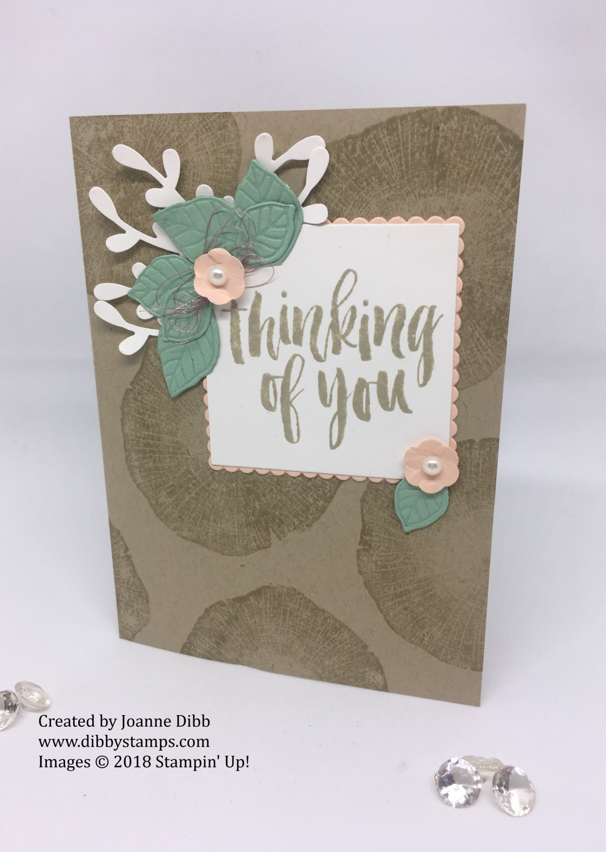 Feminine Feeling Rooted in Nature Thinking of You Card