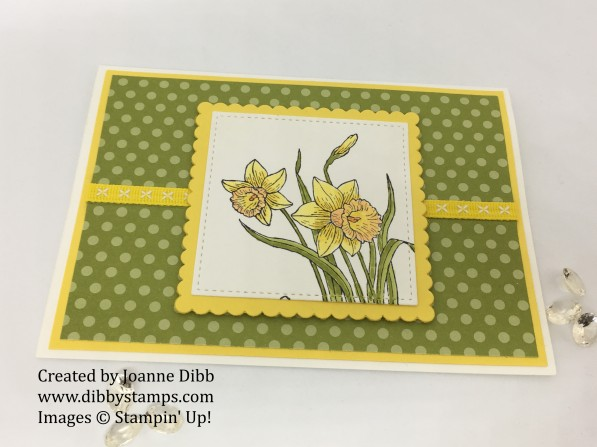 you're inspiring daffodil card flat