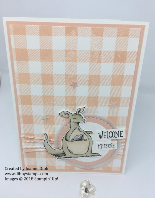 Animal Outing petal pink baby card