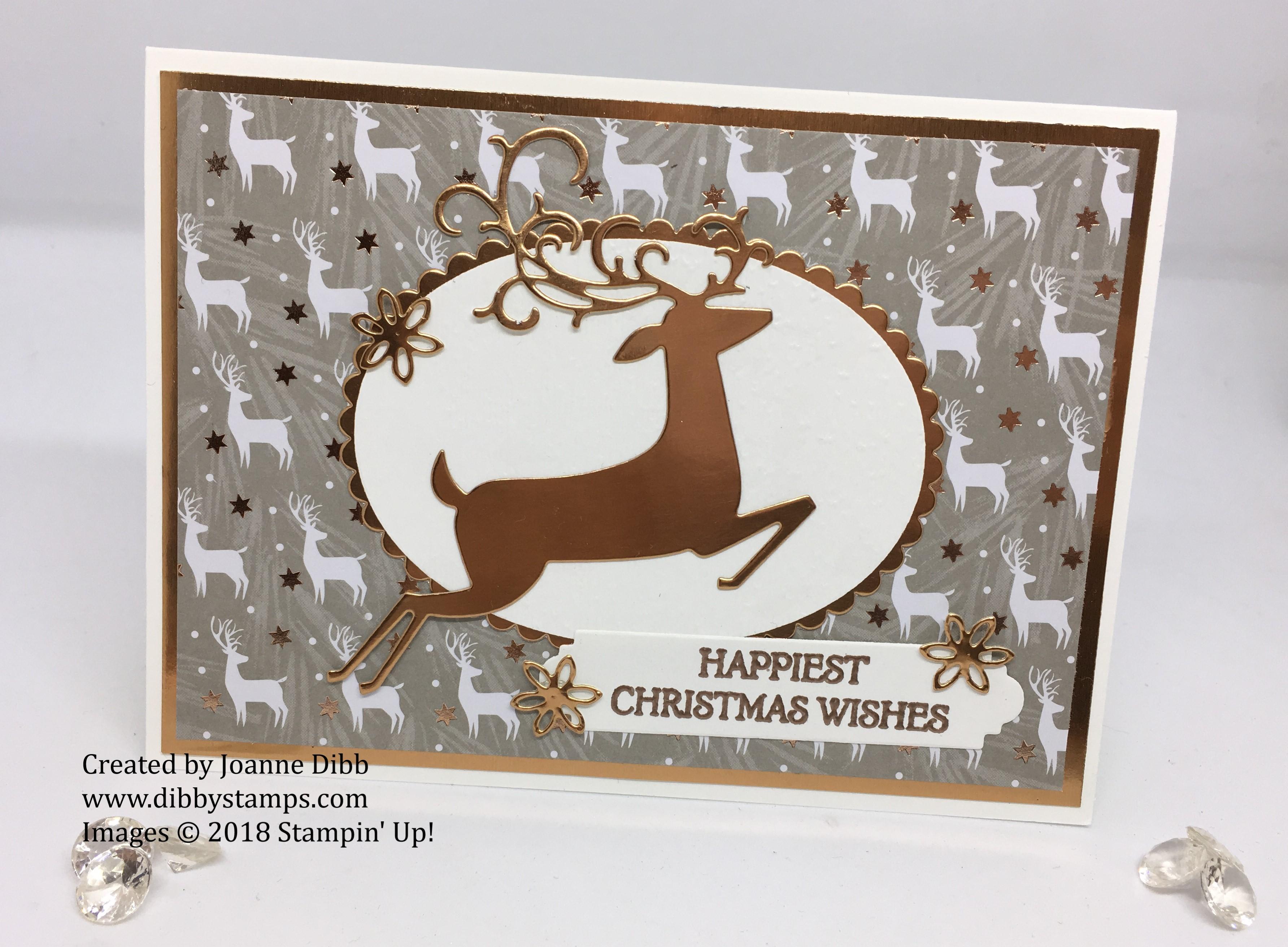 copper deer card