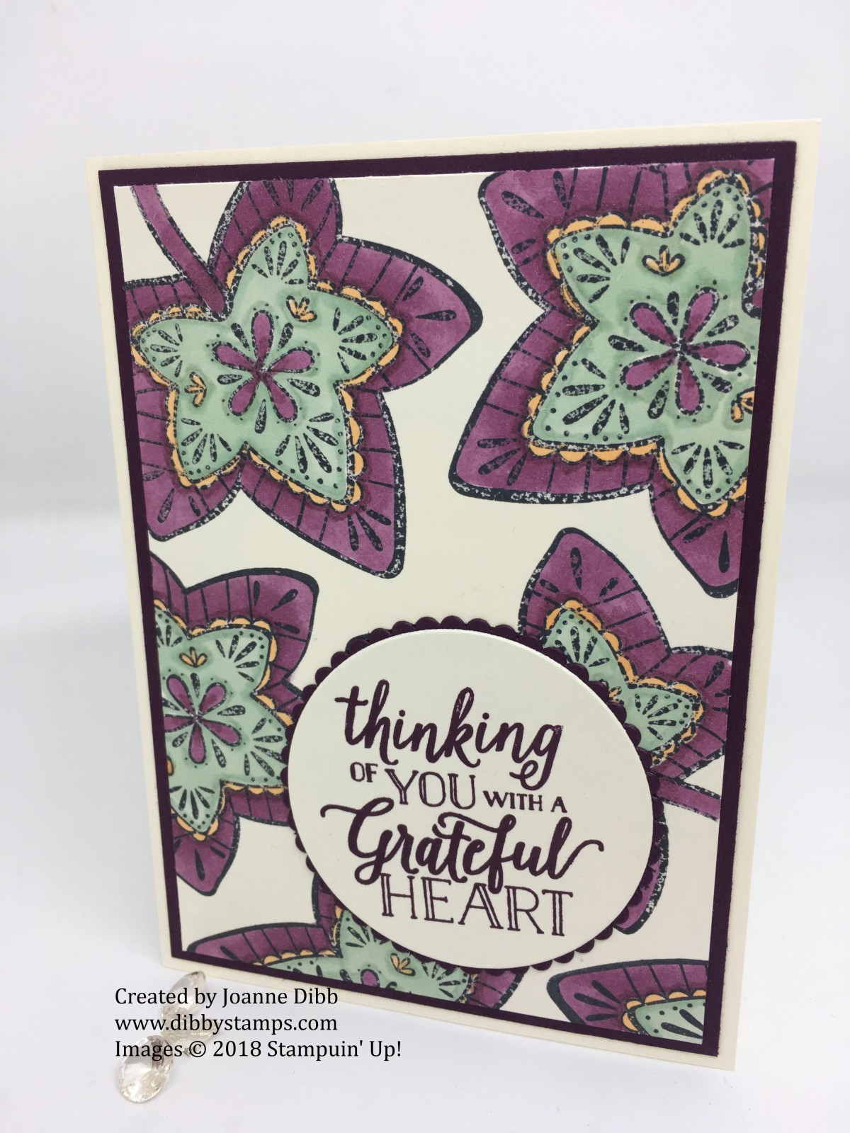 August Customer Thank You Cards with Falling For Leaves