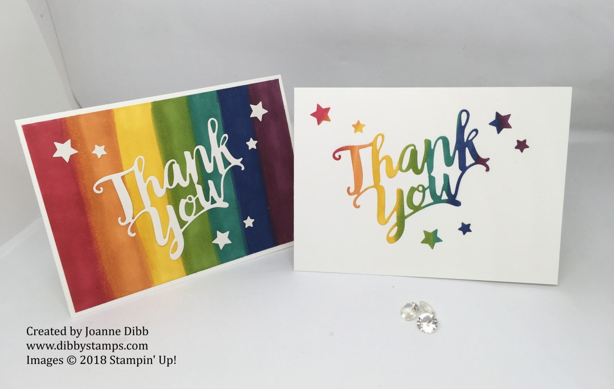 September Customer Thank You Cards: Rainbow Blends