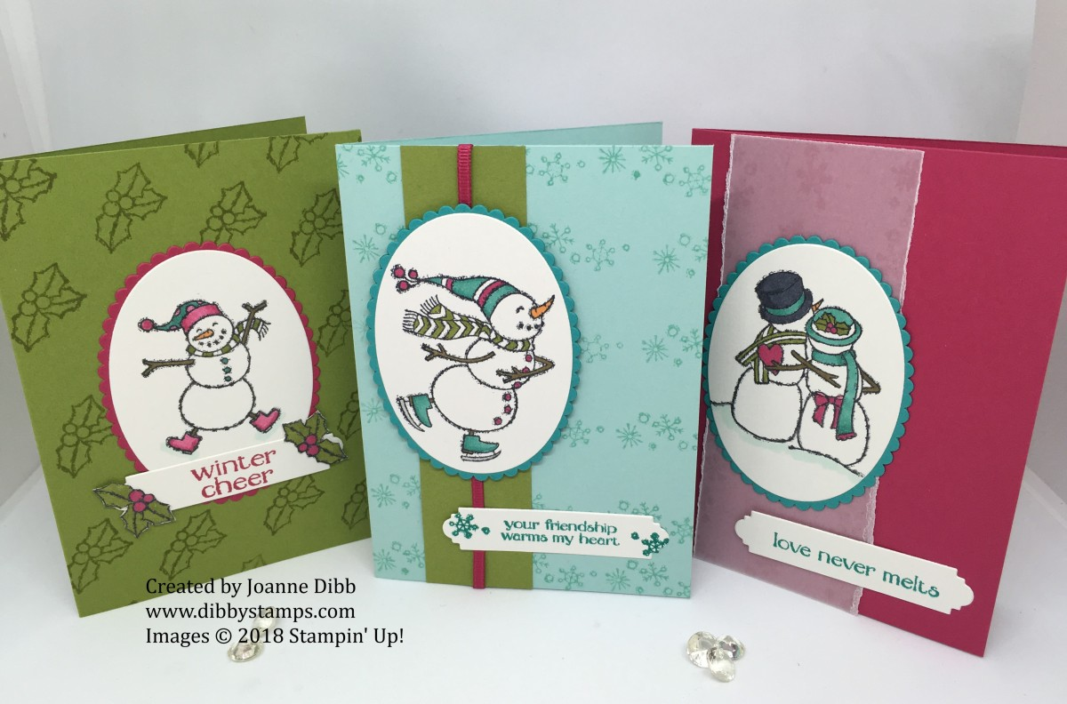 Three Card Thursday: Spirited Snowmen